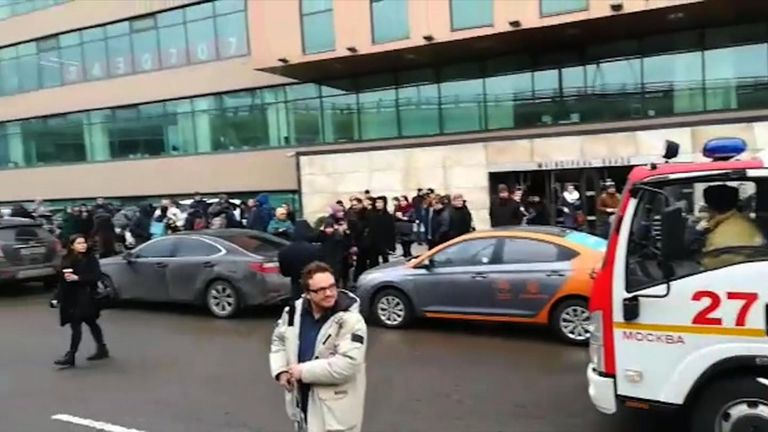 Evacuations in Moscow