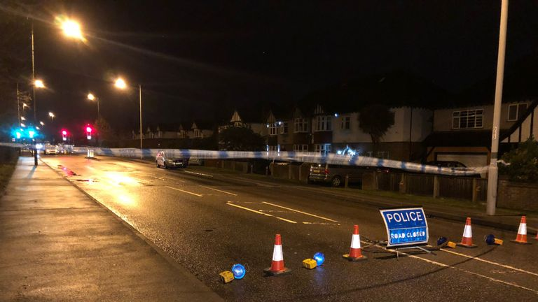 The woman was stabbed in London Road, Ewell