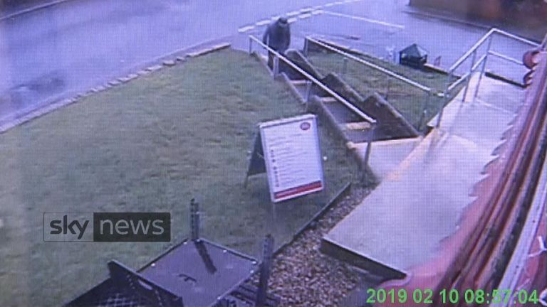 CCTV shows murder victim Dick Carter shortly before he was killed