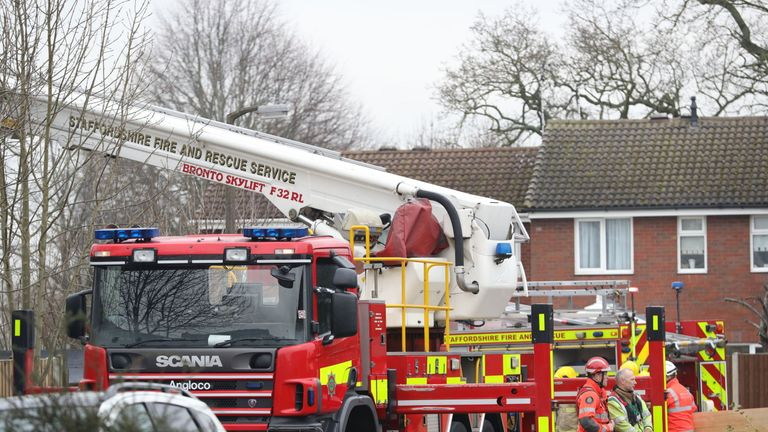 Firefighters attended the scene in the early hours of Tuesday morning