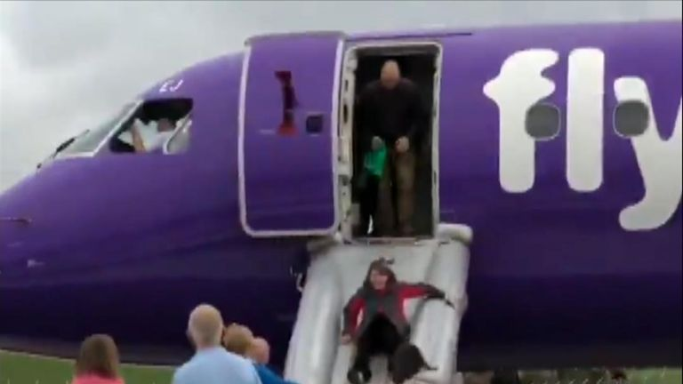 "A  Flybe flight to Alicante was aborted during takeoff at Exeter Airport due to ""smoke"" in the cabin."