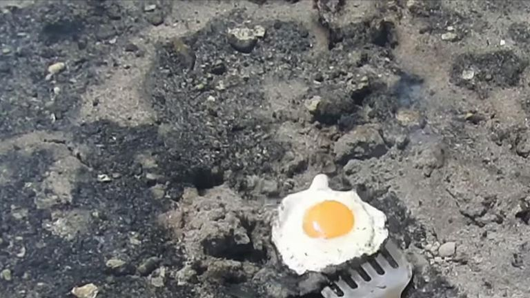 The ground is so hot in parts of Alice Springs that eggs can be fried on it