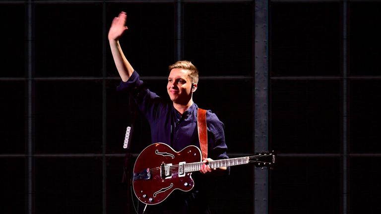 George Ezra, who also performed at the ceremony, took home the award for best male artist