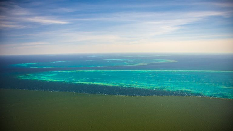 Polluted floodwater threatening Great Barrier Reef Pic: Matt Curnock/ TROPWATER JCU