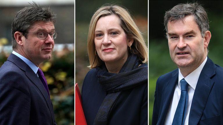 (L-R) Greg Clark, Amber Rudd and David Gauke
