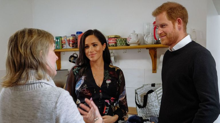 The couple met charity workers and those they support. Pic: Kensington Palace/Twitter