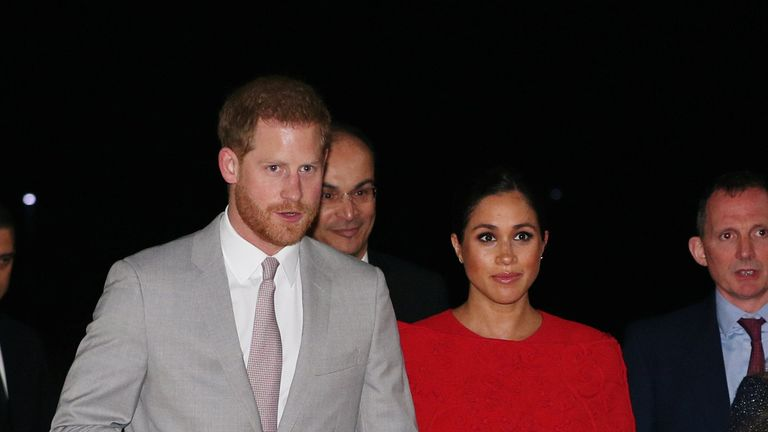 The royal couple landed in the city of Casablanca