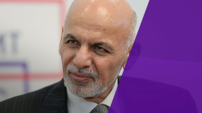 Mr Ghani revealed 45,000 Afghan police and military officers have been killed since 2014