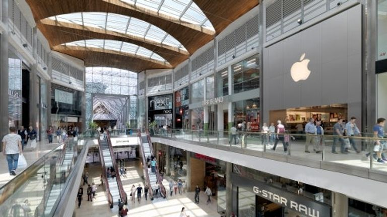 Highcross in Leicester is in Hammerson's portfolio of shopping centre sites. Pic: Hammerson