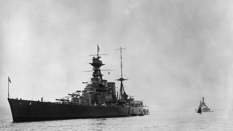 David Mearns found the HMS Hood's wreckage in 2001 after being torpedoed in 1941
