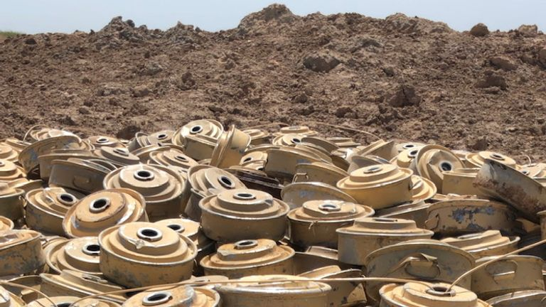 Landmines removed from areas around Hodeidah, Yemen