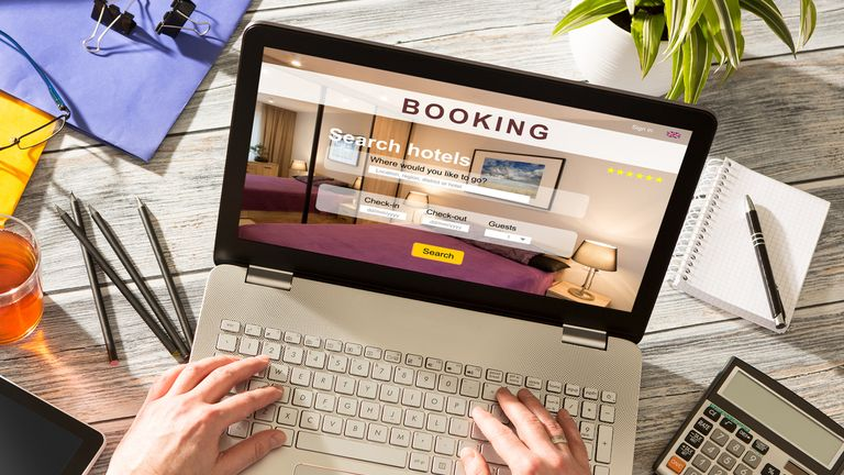 booking hotel travel traveler search business reservation holiday book research plan tourism concept - stock image (booking hotel travel traveler search business reservation holiday book research plan tourism concept - stock image, ASCII, 115 componen