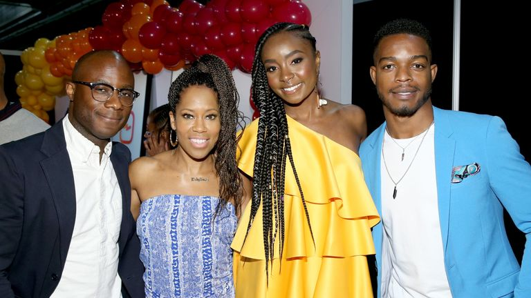 Jenkins, left, with If Beale Street Could Talk stars Regina King, KiKi Lane and Stephen James