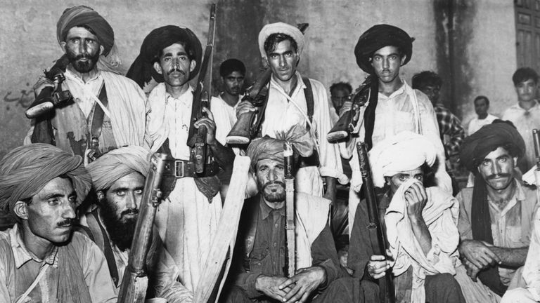 Tribesmen from Waziristan who fought Indian forces in the Indo-Pakistani War of 1965