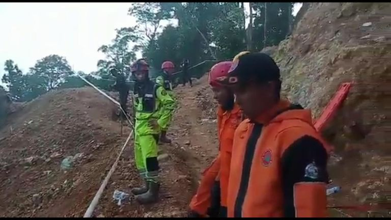 Rescuers say they can hear voices from inside the mine Pic: National Agency for Disaster Countermeasure