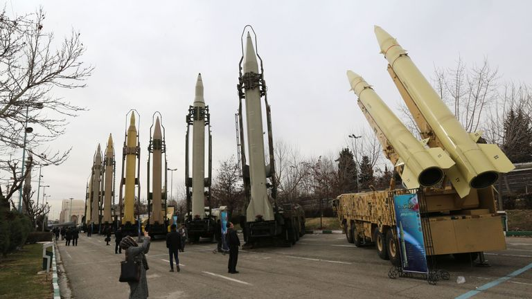 The missile test was part of an arms exhibition being held in Tehran