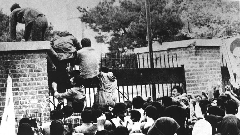 The storming of the US embassy on 4 November, 1979