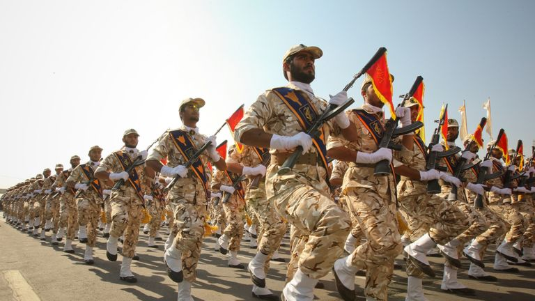 Members of the Iranian revolutionary guard. File pic