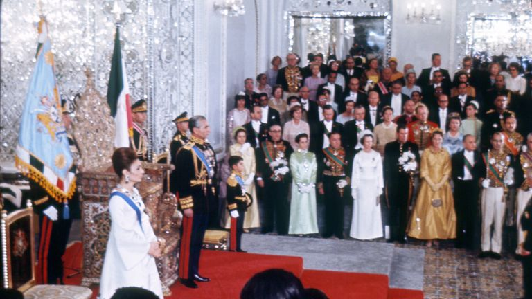 The coronation ceremony of the last Shah of Iran, Mohammed Reza Pahlavi