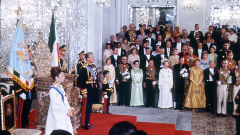 The coronation ceremony of the last Shah of Iran, Mohammed Reza Pahlavi