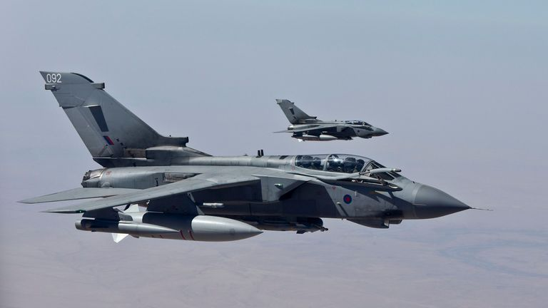 RAF Tornadoes were among the planes used for missions against Islamic State