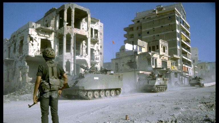 Israeli involvement in the war in southern Lebanon in 1983