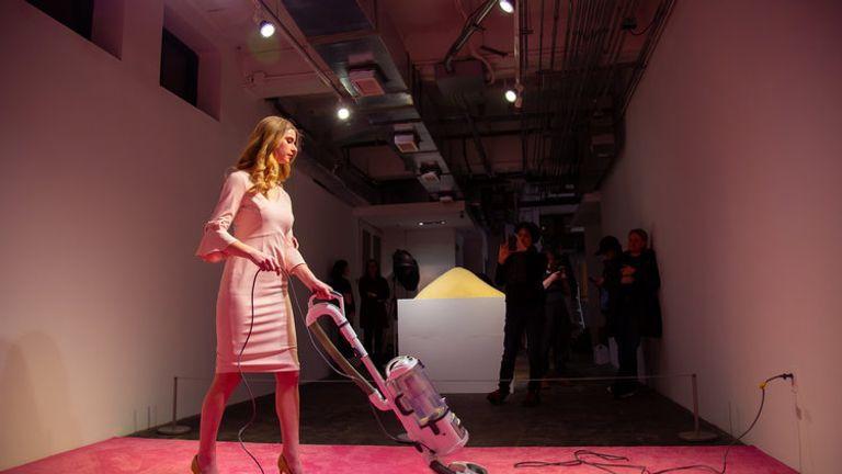 The artwork title Ivanka Vacuuming is on show at a gallery in Washington. Pic: Cultural DC