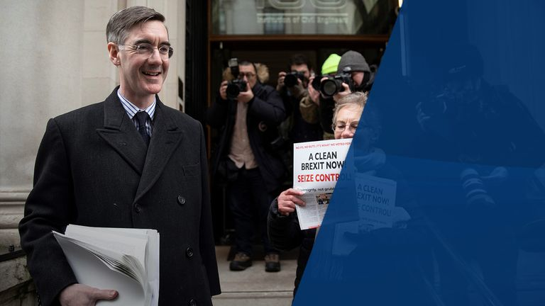 Jacob Rees-Mogg is chairman of the Brexit-supporting European Research Group