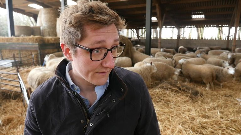 Sheep farmer James Mill has said his family is 'looking down the barrel of losing 30% of our market'