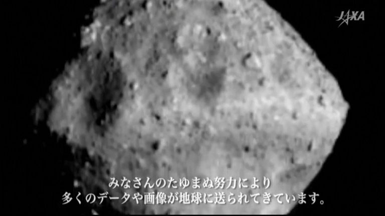 Asteroid Ryugu is 170 million miles from Earth