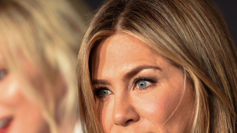 US actress Jennifer Aniston arrives at the 4th Annual InStyle Awards at The Getty Center in Los Angeles on October 22, 2018. (Photo by VALERIE MACON / AFP) (Photo credit should read VALERIE MACON/AFP/Getty Images)