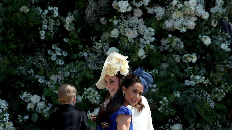 Jessica Mulroney attended the royal wedding last May, pictured here next to the Duchess of Cambridge