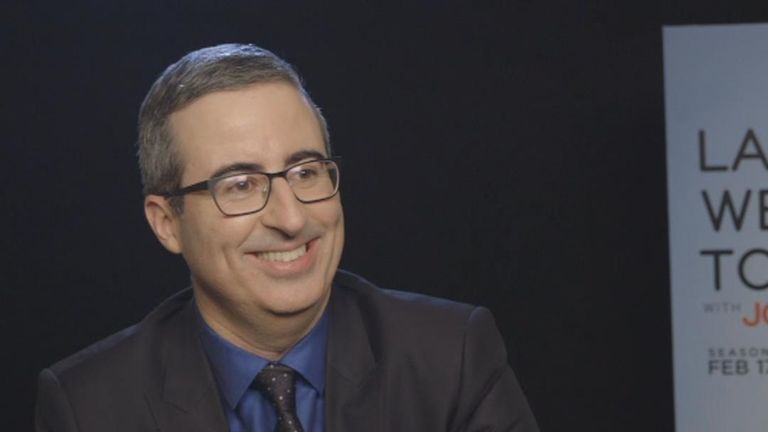 Comedian John Oliver discusses the news and Sky Raw