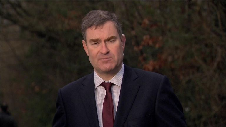 David Gauke MP talking on Sky News