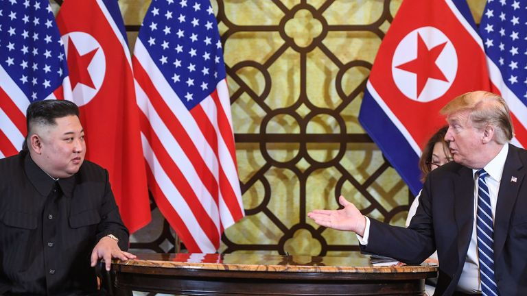 Kim Jong Un and President Trump