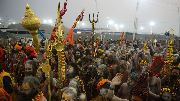 Hindus gather for the Kumbh Mela