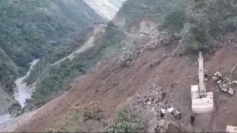 Two landslides left 14 people dead, 34 others injured and seven missing.
