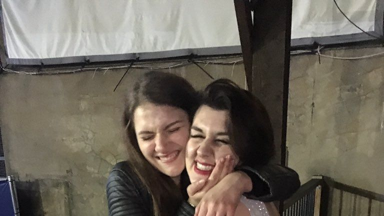 Libby Squire (L) went missing on Thursday night in Hull