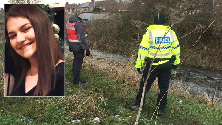 Police searched the banks of a river in Newland, Hull for missing Libby Squire on Saturday