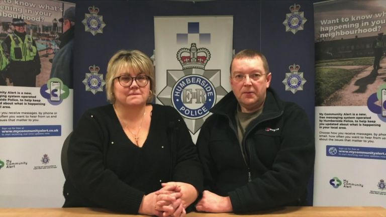 The parents of missing student Libby Squires make an appeal to the public.