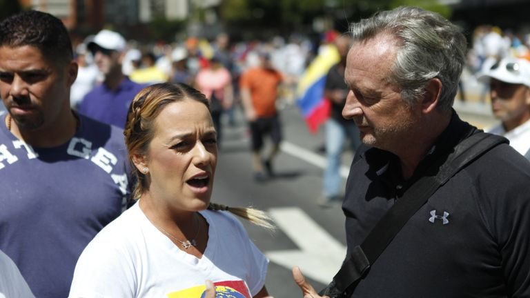 Lillian Tintori believes Mr Maduro's time is up
