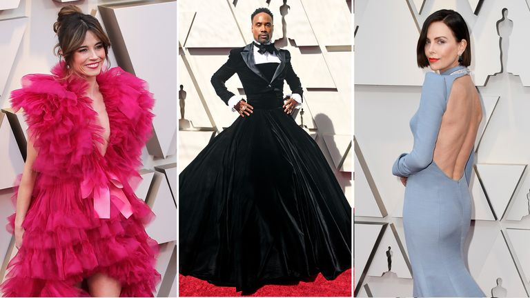 Linda Cardellini, Billy Porter and Charlize Theron at the Oscars