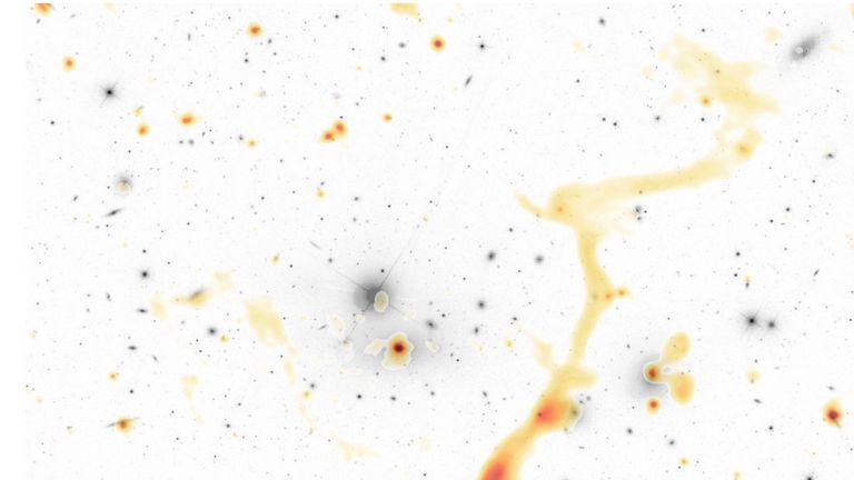 The new radio survey has detected hundreds of thousands of new galaxies. Pic: ASTRON