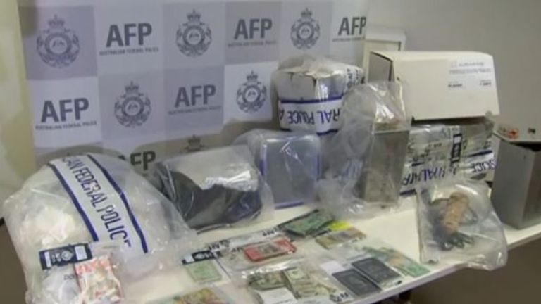 Officers seized hundreds of thousands of pounds worth of cash and drugs