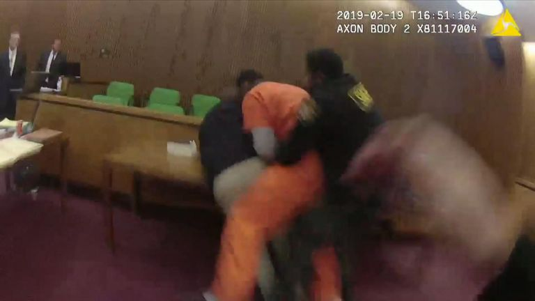 Man punches own attorney