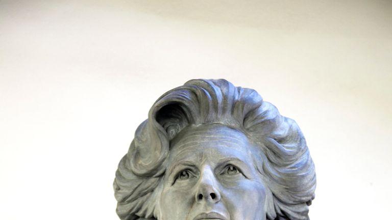 Undated handout file photo of sculptor Douglas Jennings' statue of Margaret Thatcher