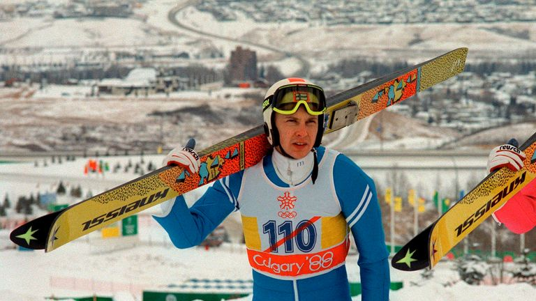 Finnish ski jumper Matti Nykanen in training for the 1988 in Calgary Winter Olympics, has died aged 55