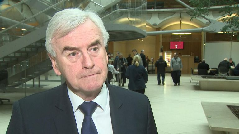 Shadow Chancellor John McDonnell said he was 'disappointed' seven MPs left the party, and commented on the anti-Semitism issue.