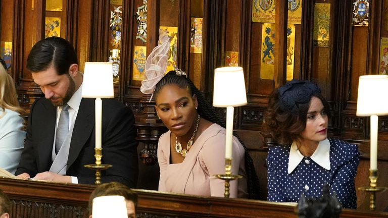 Meghan's close friends Serena Williams and Abigail Spencer attended the royal wedding