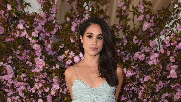 Meghan Markle at NoMad Hotel Rooftop in New York in 2016